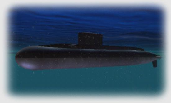 At periscope depth