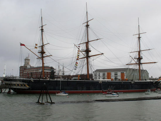 HMS Warrior seen from the Ferry