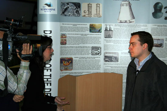 Interview for TVE, a Spanish TV station.