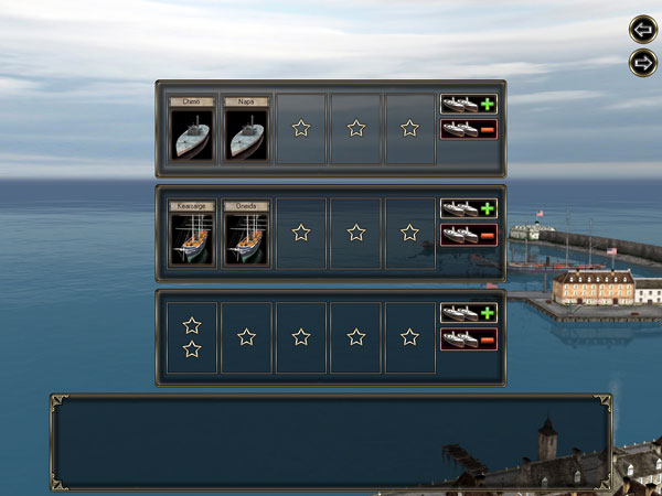 Ironclads - High Seas ship selection.