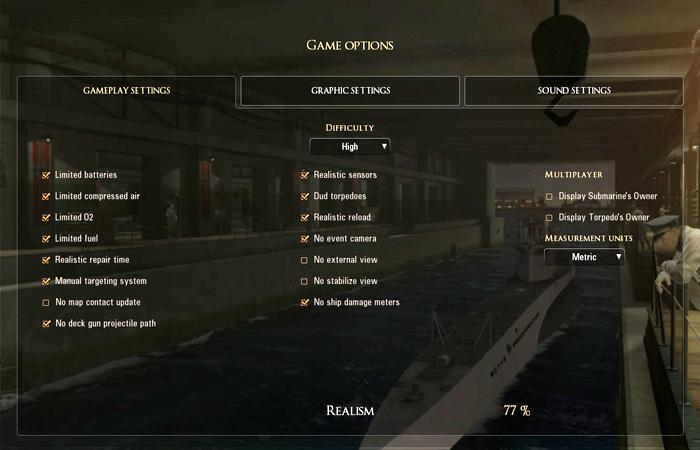 SH5 Game Options