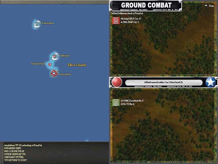 Ground Combat - War in the Pacific: Admiral's Edition