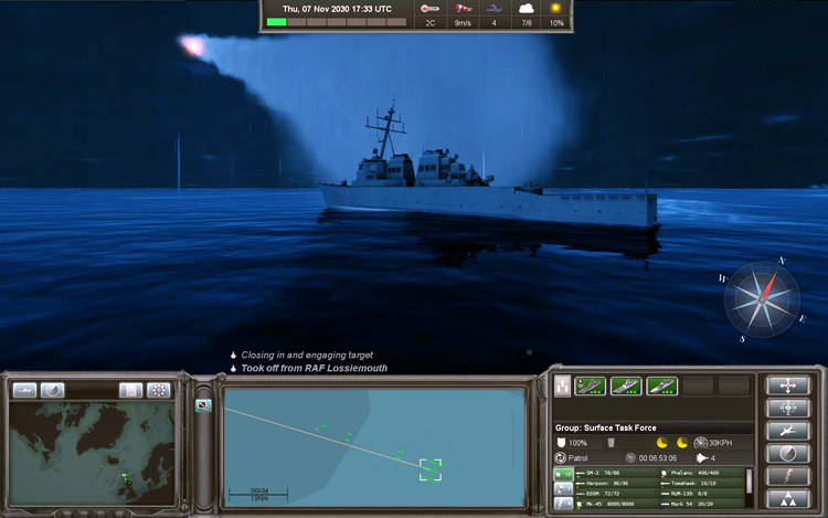 Naval War: Arctic Circle - Missile Launch