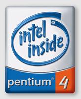 The Intel Pentium 4 logo