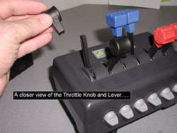 Throttle Knob and Lever.