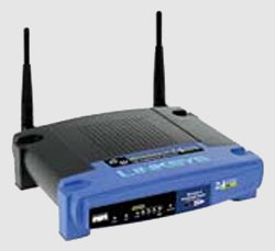 The Lynksys WRT54G. Image courtesy of Linksys.