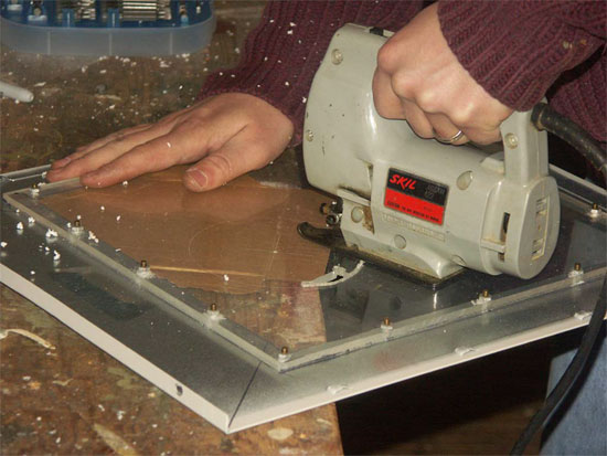 Cutting the Fan Hole