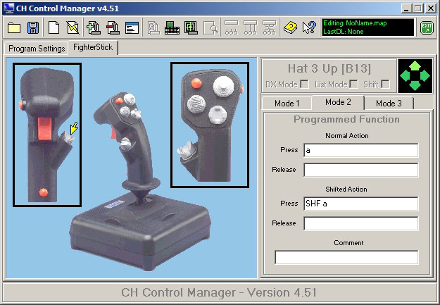 CH Control Manager button assignment