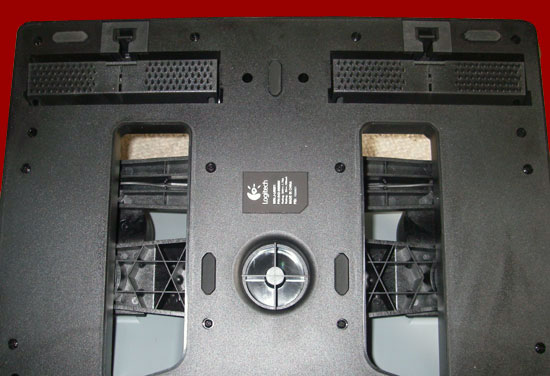 The bottom of the rudder unit showing the retractable spike strips for use on carpets.