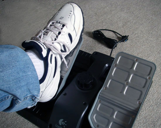 The rudder pedals are slightly larger than CH pedals allowing for larger feet to fit in the pedal wells.