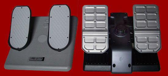 Size comparison between the G940 rudder pedals and CH Pro Pedals.