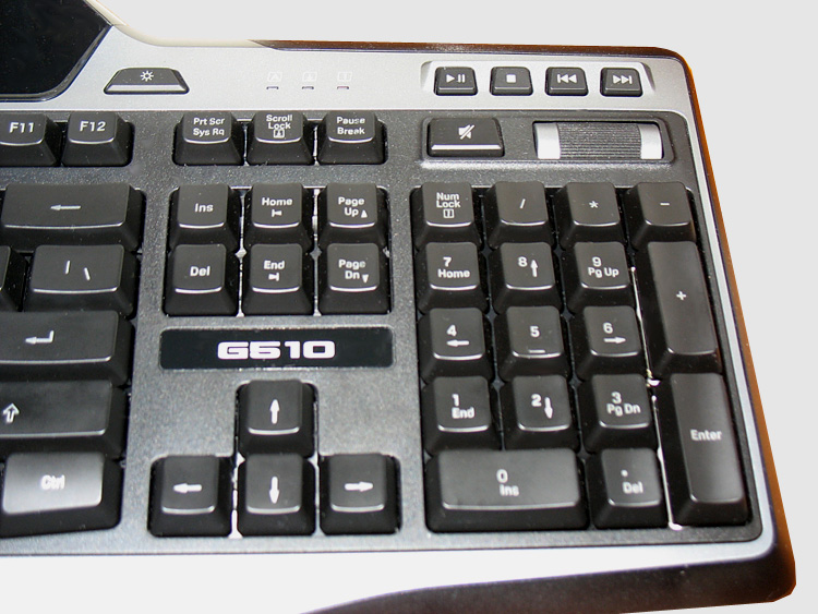 Logitech G510 Keyboard - Right side closeup