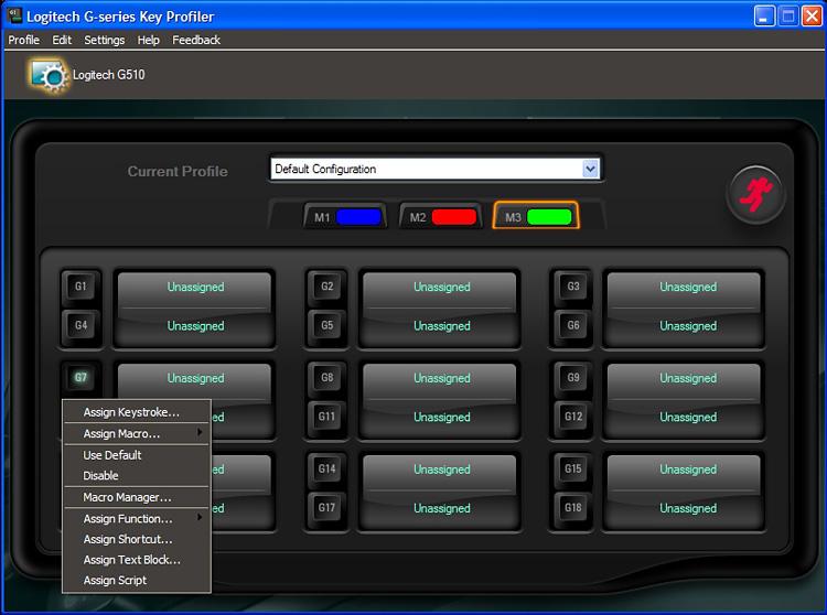 Logitech G510 Keyboard - Logitech G-series Key Profiler