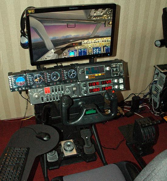 Obutto oZone Gaming Cockpit - flight simulation yoke