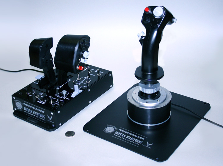 The Thrustmaster HOTAS Warthog - Rear View