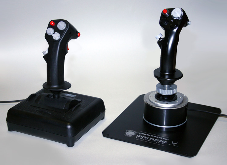 CH Products Fighterstick and the HOTAS Warthog Joysticks