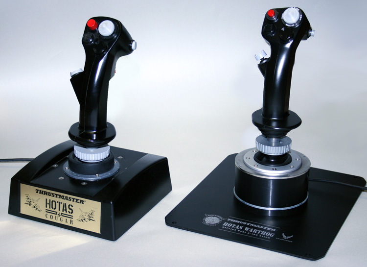 HOTAS Cougar and the HOTAS Warthog Joysticks