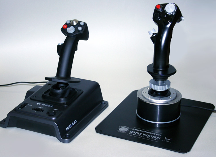 Logitech Flight System G940 and the HOTAS Warthog Joysticks