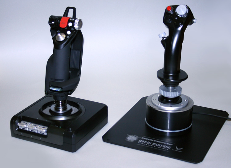 Saitek X-52 Pro Flight and the HOTAS Warthog Joysticks