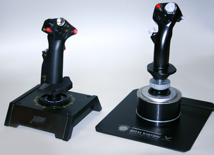 Saitek X-65F Pro Flight and the HOTAS Warthog Joysticks