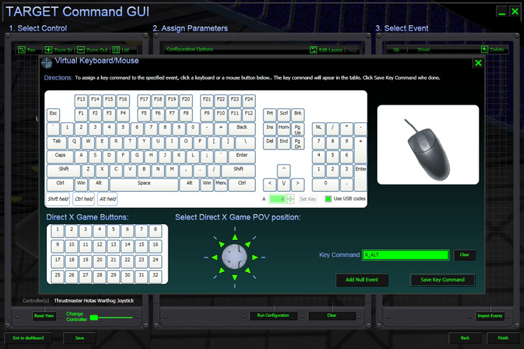 T.A.R.G.E.T. Software - Virtual keyboard, mouse, and joystick buttons