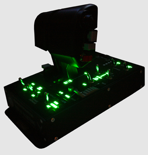 The Thrustmaster HOTAS Warthog lighted throttle