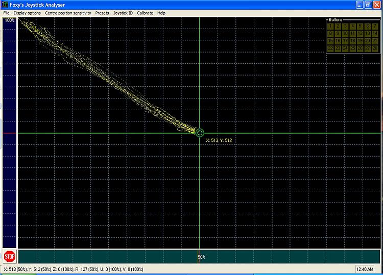 Motion Test - Saitek X-65F Pro Flight center to up-left 10x, eyes open