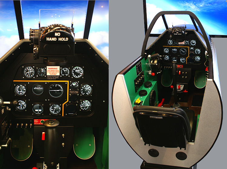 The SimAviatik P-51 cockpit