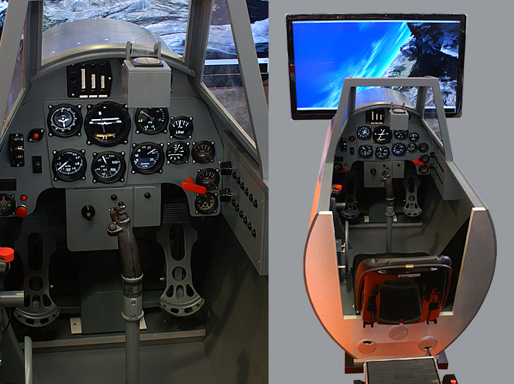 The SimAviatik Bf-109 cockpit