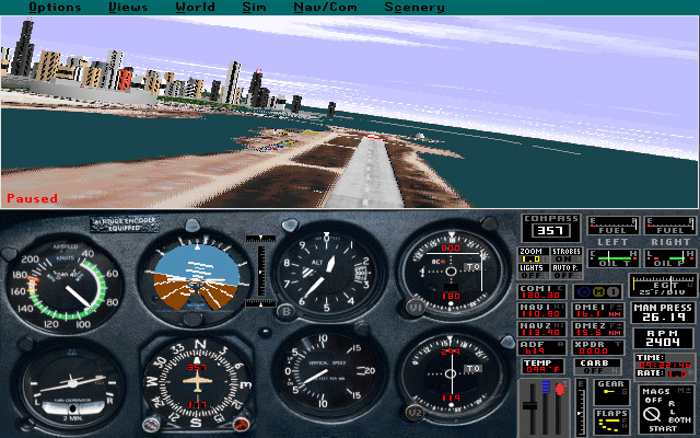 Microsoft Flight Simulator 5 -  Meigs Field. Gone but not forgotten.