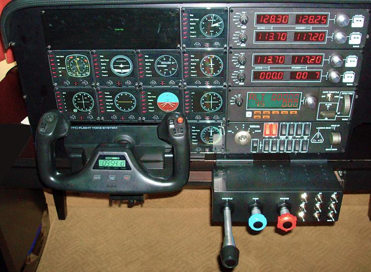 The Saitek ProFlight panels, yoke, and TPM
