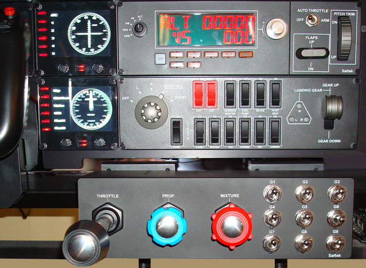 A close up of the Saitek ProFlight TPM