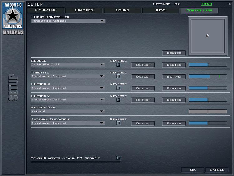 Thrustmaster HOTAS Warthog - F4:AF controller setup
