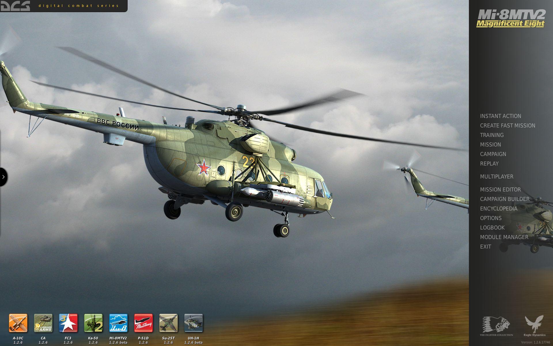 Mi-8MTV2 Menu