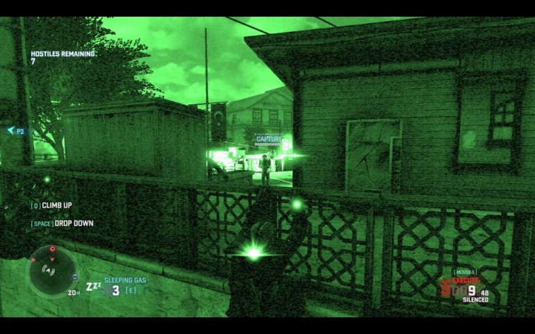 "In this scenario, you can see an HVT labelled ""Capture"" in the player's HUD.  Coop teams can score additional points for taking this guy alive."