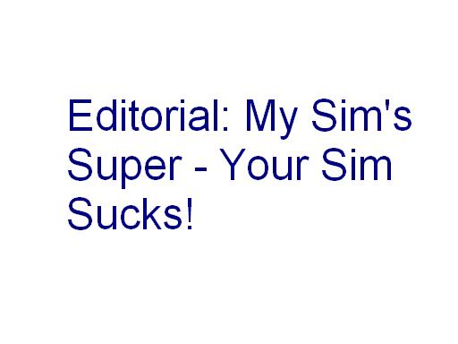 editorial my sims super