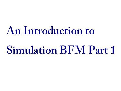simulation BFM part 1