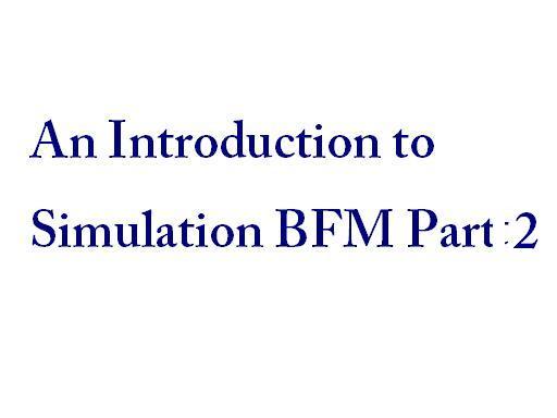 simulation BFM part 2