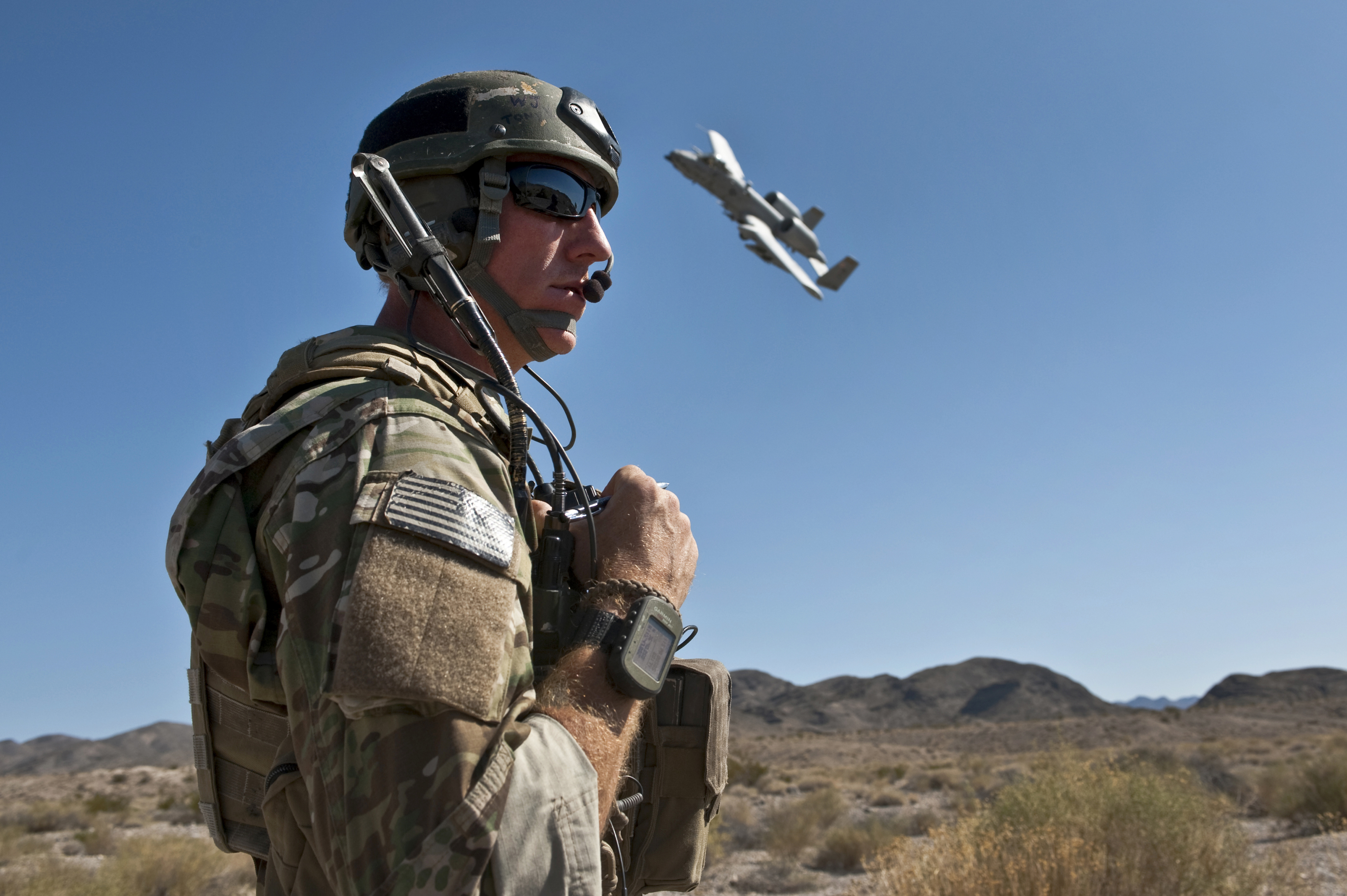 Close Air Support training at the Nevada Test and Training Range. (Courtesy US Dept of Defense)