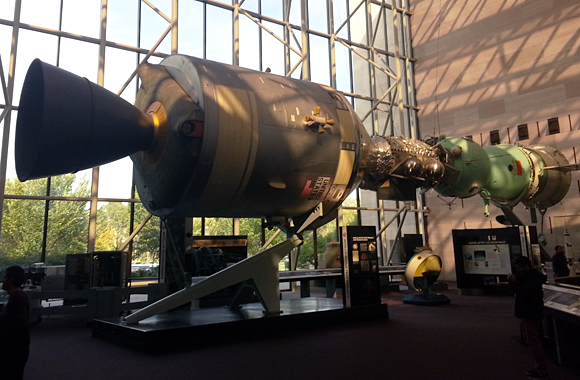 Apollo Soyuz modules docking at the Smithsonian Air & Space Museum