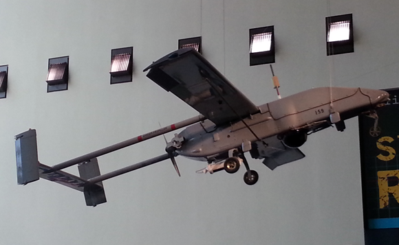 Drone at the Smithsonian Air & Space Museum