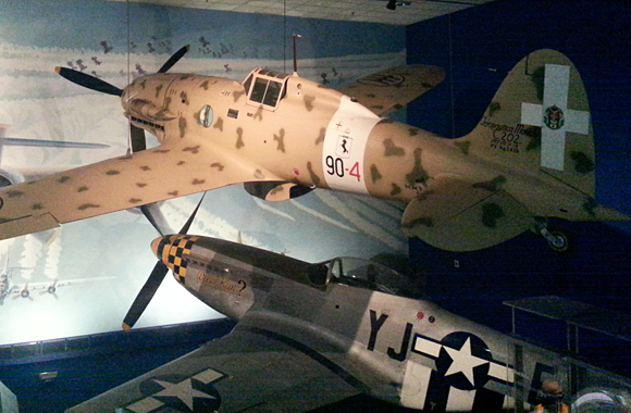 Aermacchi and P-51 at the Smithsonian Air & Space Museum