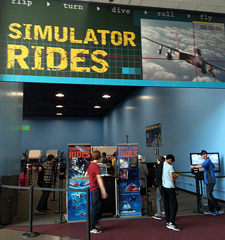 Flight simulator rides at the Smithsonian Air & Space Museum