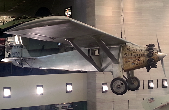 The Spirit of St Louis at the Smithsonian Air & Space Museum