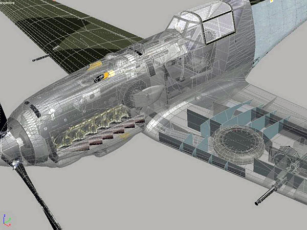 The level of internal structural detail modelled in IL-2 Sturmovik: Cliffs of Dover