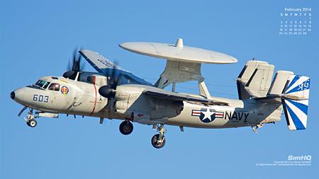 "E-2C Hawkeye of the VAW-121 ""Bluetails"""