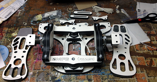 MFG Crosswind Pedals - before assembly.