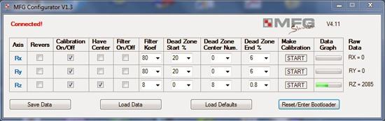MFG Crosswind configurator.
