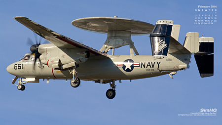 "E-2C Hawkeye of the VAW-120 ""Greyhawks"""