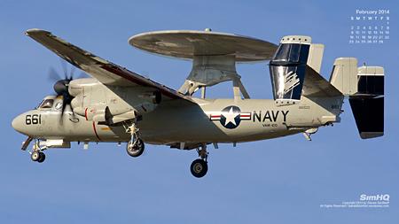 """E-2C Hawkeye of the VAW-120 """"Greyhawks"""""""